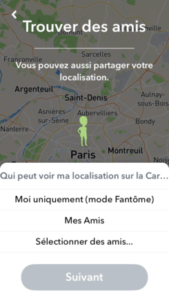 localiser compte snapchat