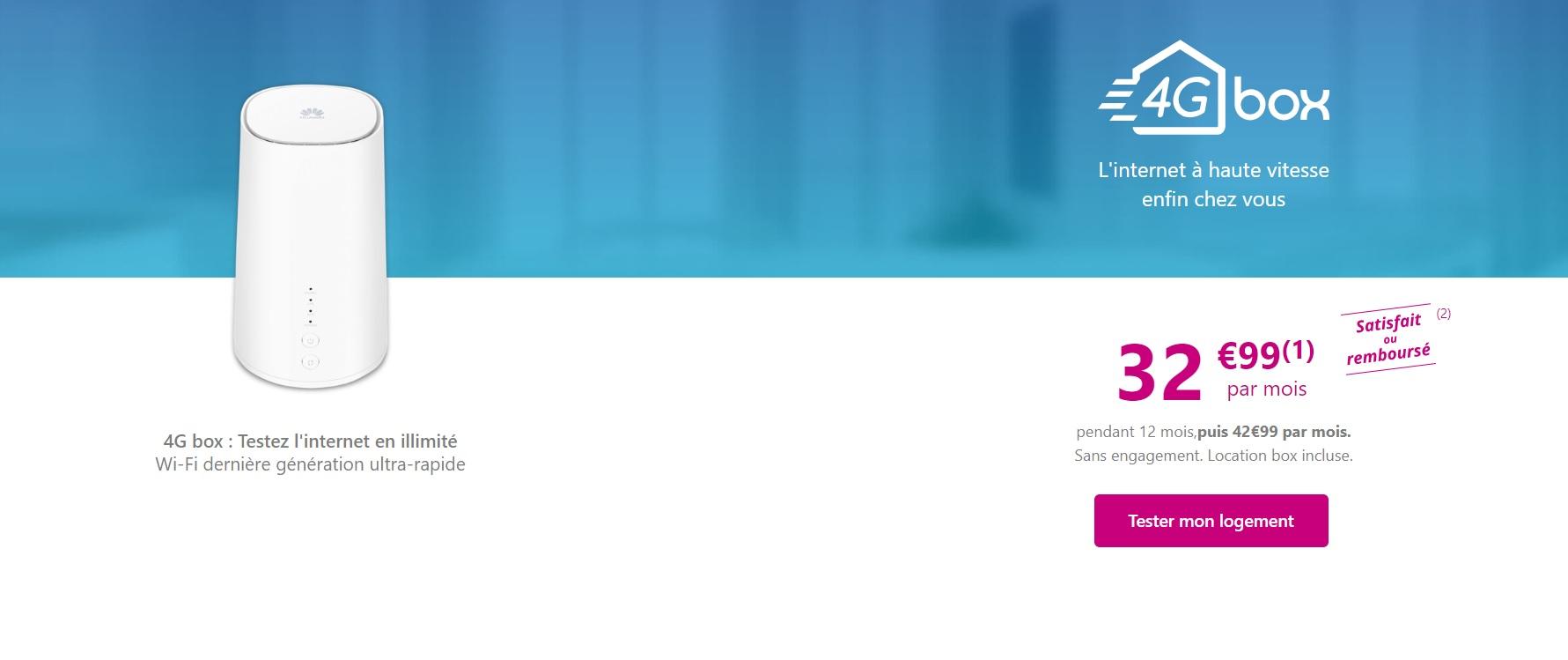Pour 32,99 € par mois pendant 1 an (puis 42,99 euros), la Box 4G de  Bouygues est à considérer si vous êtes éligible — les premiers retours de  nos confrères ... d847c62a0372