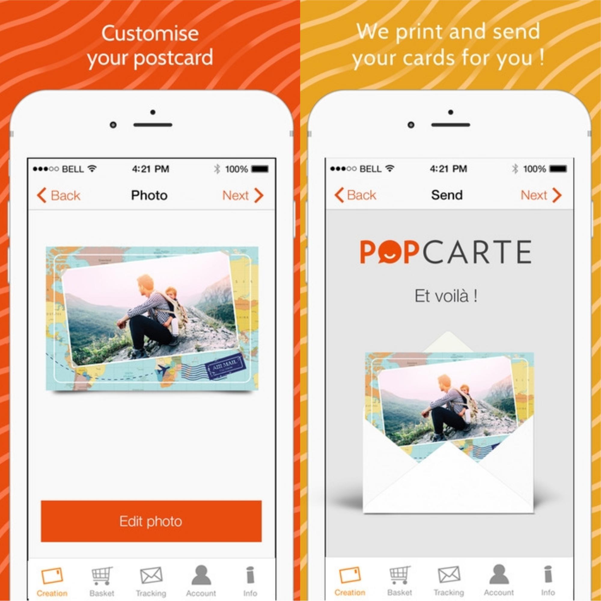 fizzer touchnote popcarte cet t envoyez des cartes postales depuis un smartphone pop. Black Bedroom Furniture Sets. Home Design Ideas