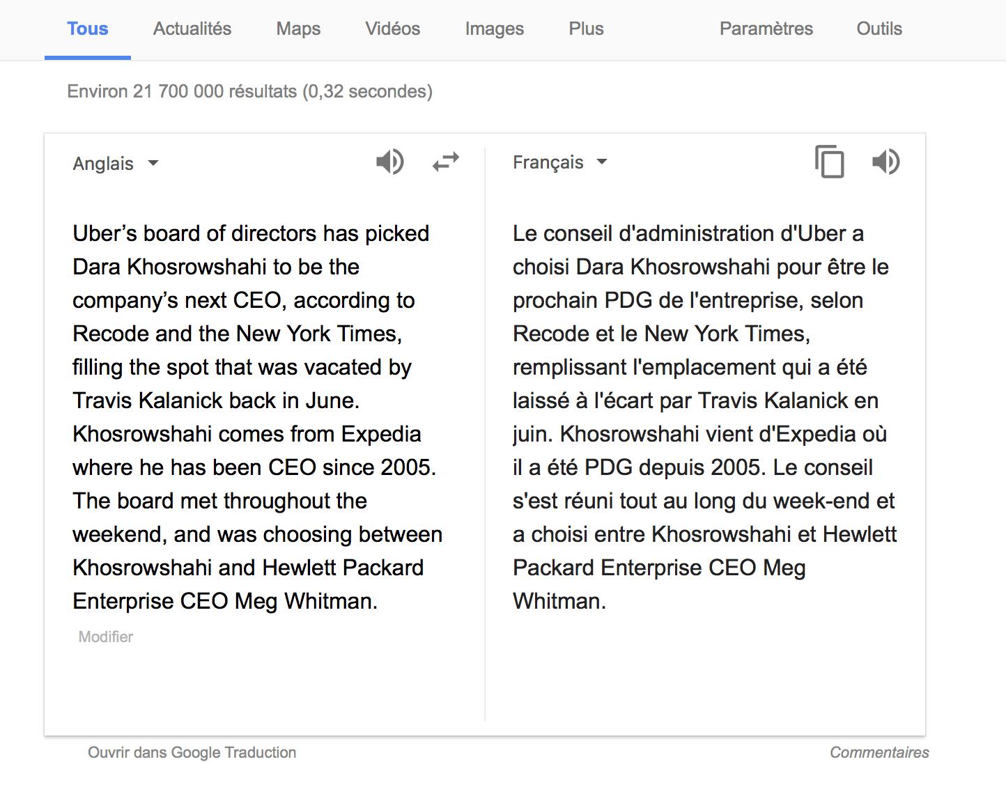 fete du travail google traduction