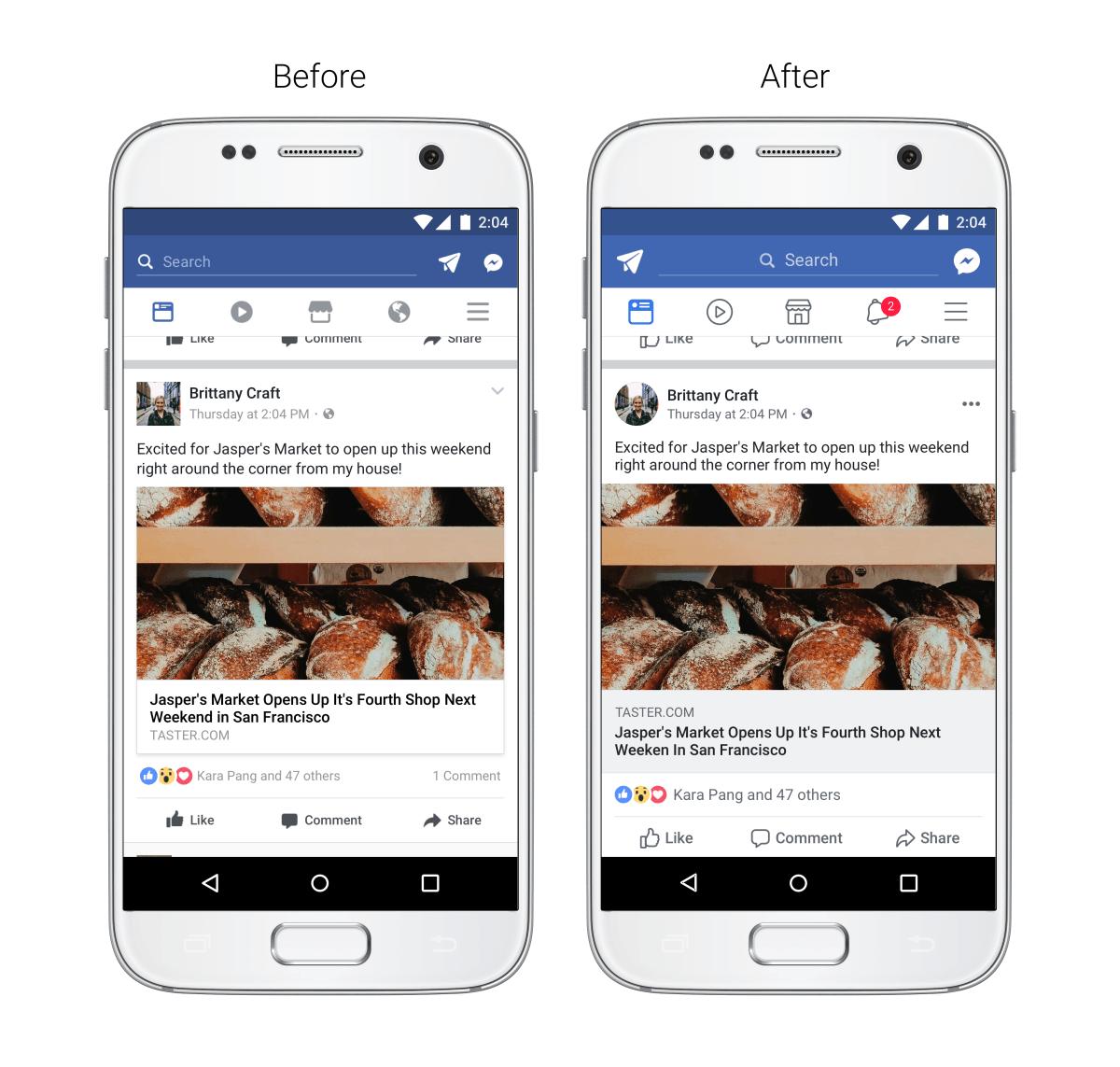 Facebook s'offre un lifting sur mobile