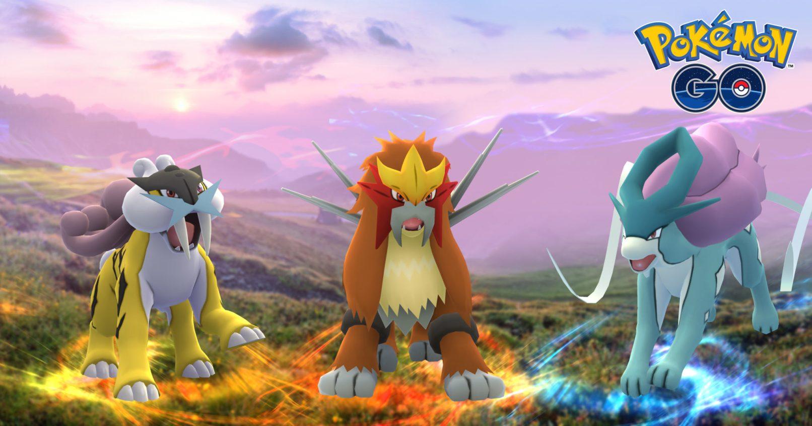Raikou, Entei et Suicune, où les trouver — Pokémon go
