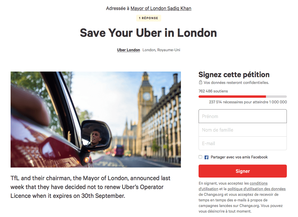 Uber devra quitter Londres !