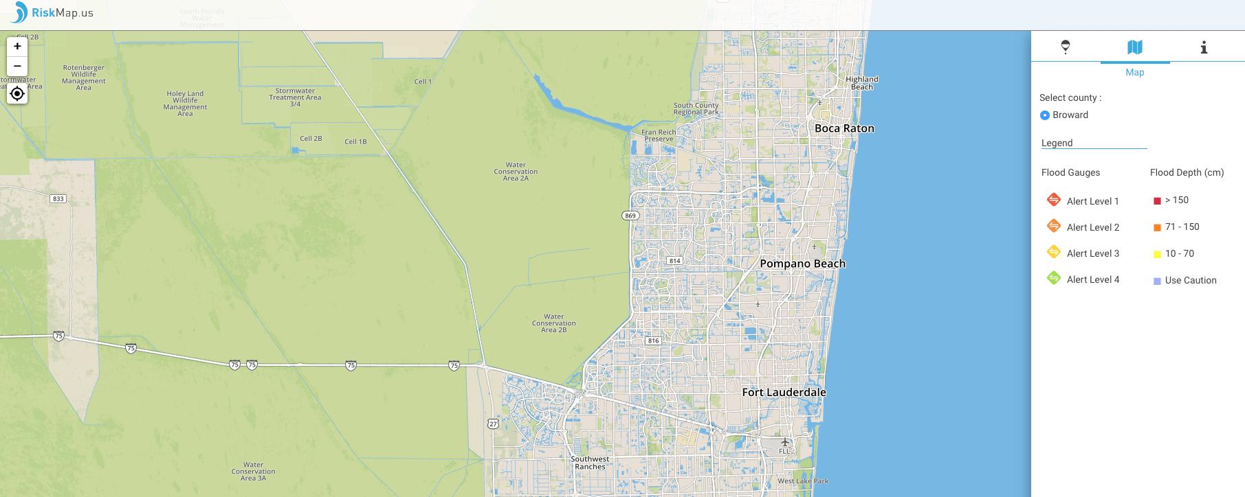 cette carte crowdsourc 233 e permet de suivre les inondations caus 233 es par irma en temps r 233 el