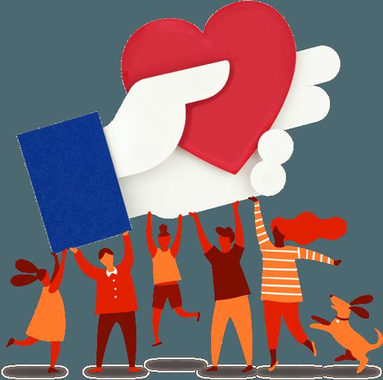 Un bouton pour faire un don caritatif — Facebook