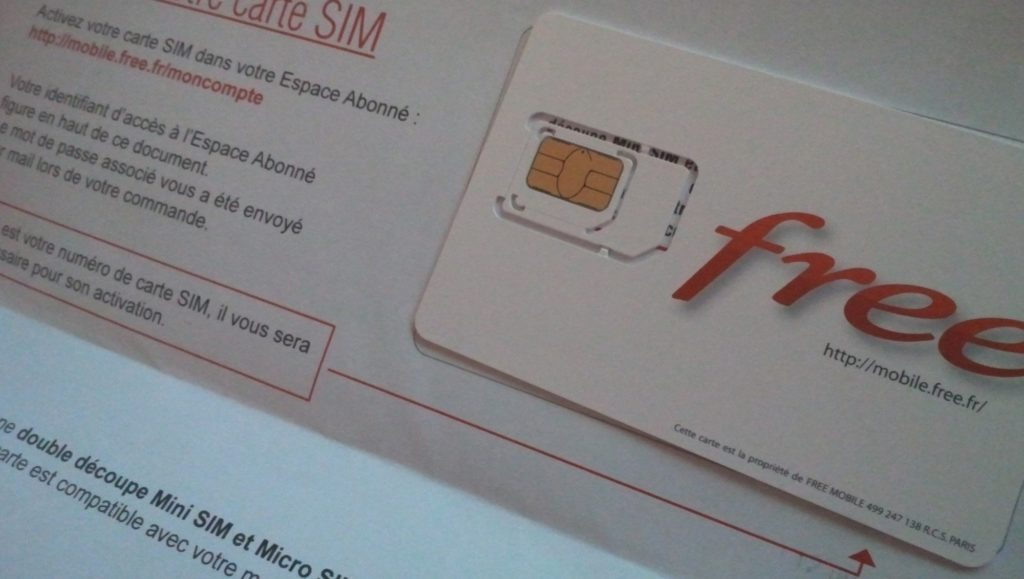 free mobile carte sim