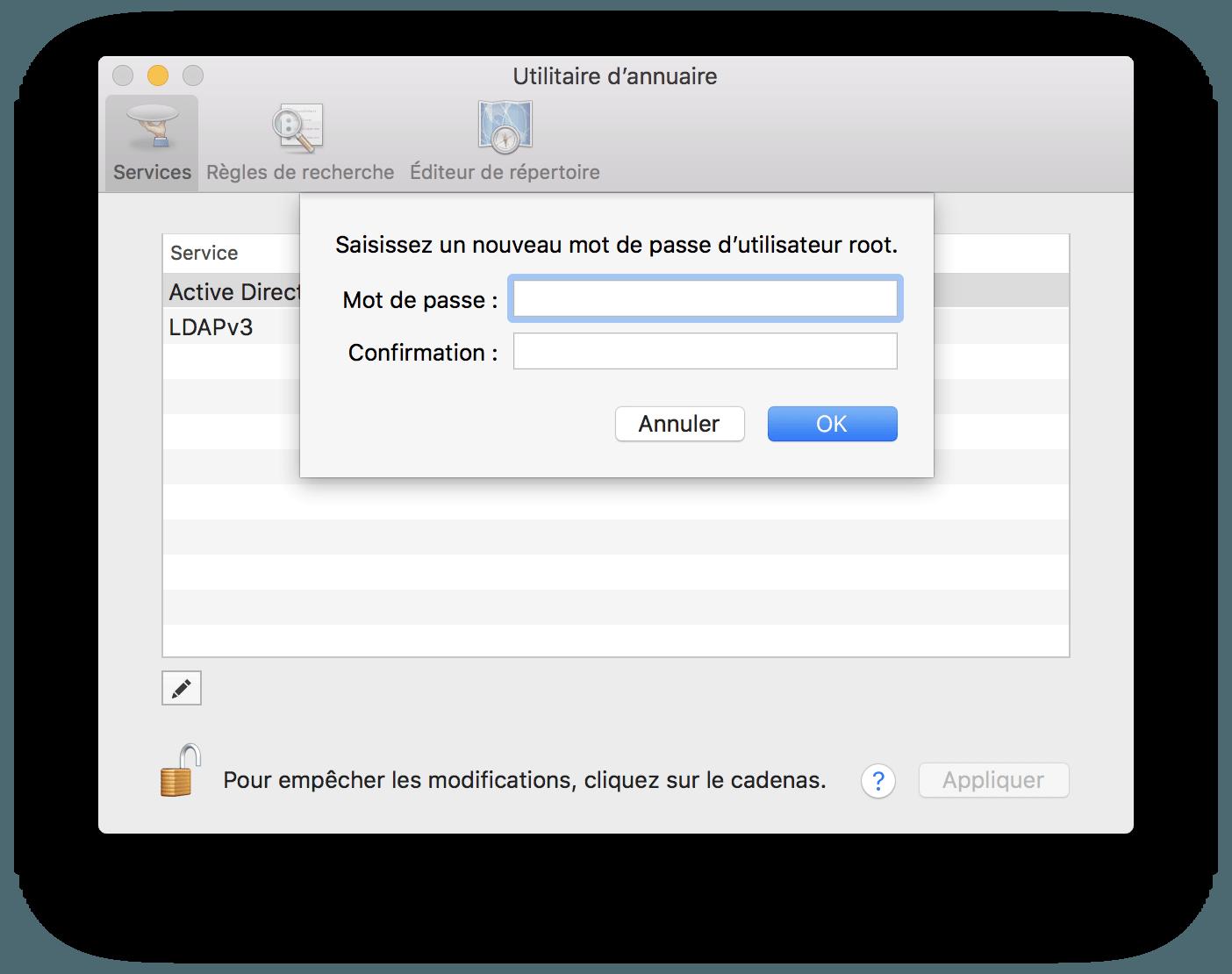 5adc56383d93f ... Alternative : vous pouvez cliquer sur Désactiver l'utilisateur root.