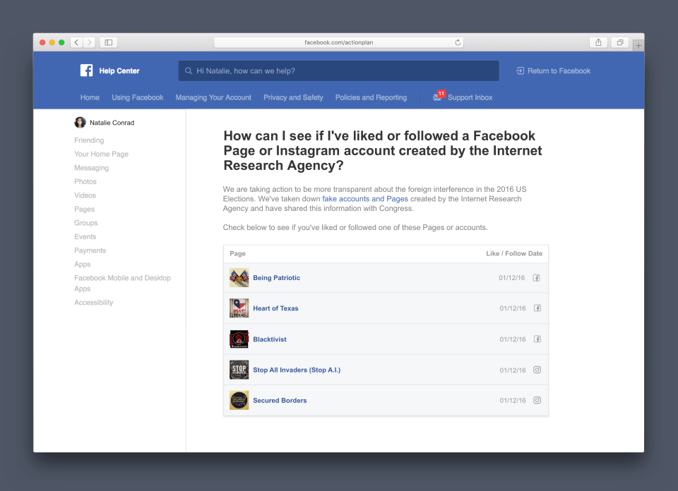 Un nouvel outil pour lutter contre l'ingérence russe — Facebook