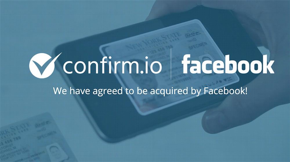 Facebook acquiert Confirm.io — Biométrie