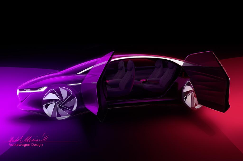 Une Volkswagen ID Vizzion Concept en route pour Genève