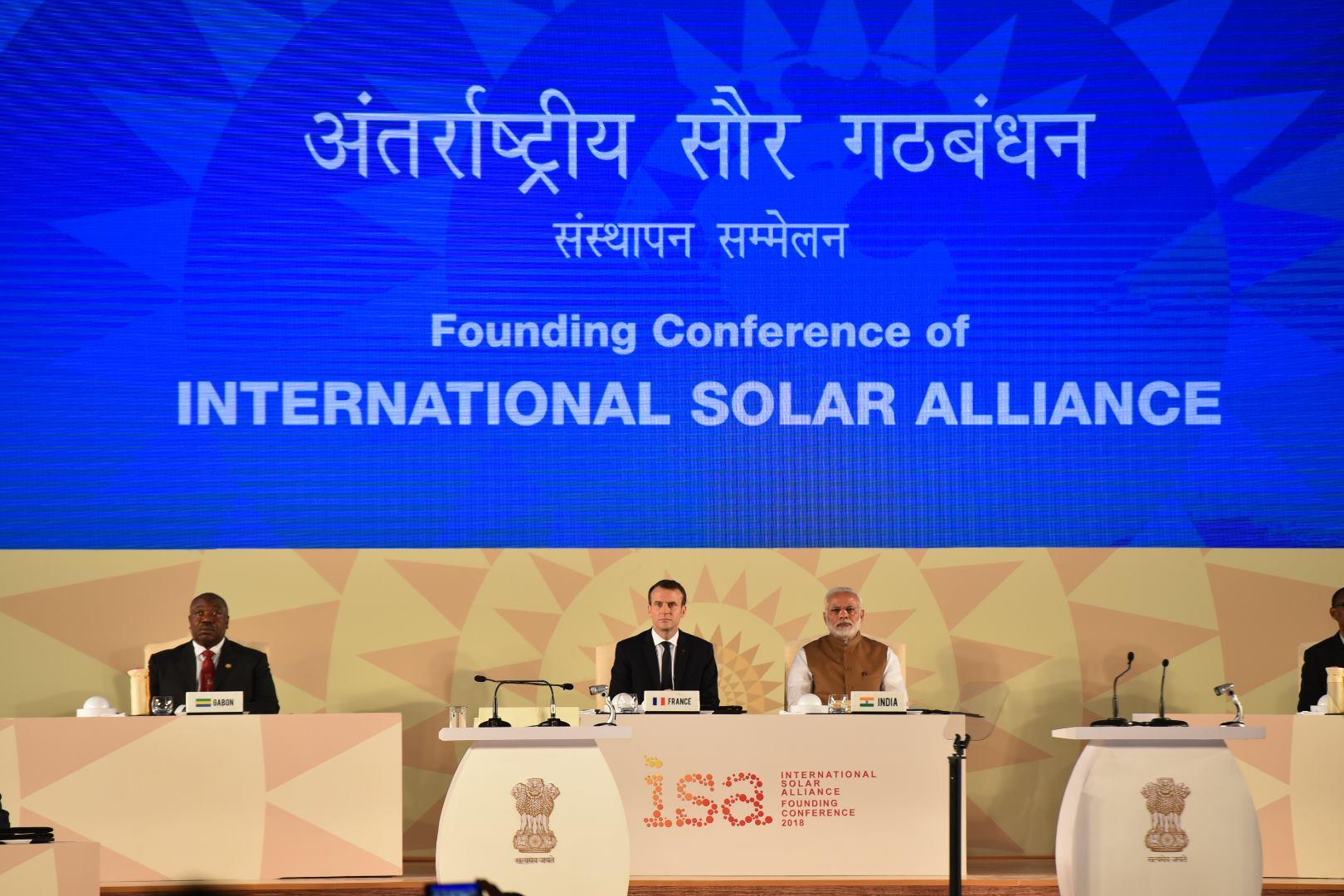 Ali Bongo au sommet sur l'énergie solaire, dimanche à New Dehli