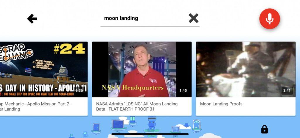 Moon Landing YouTube Kids