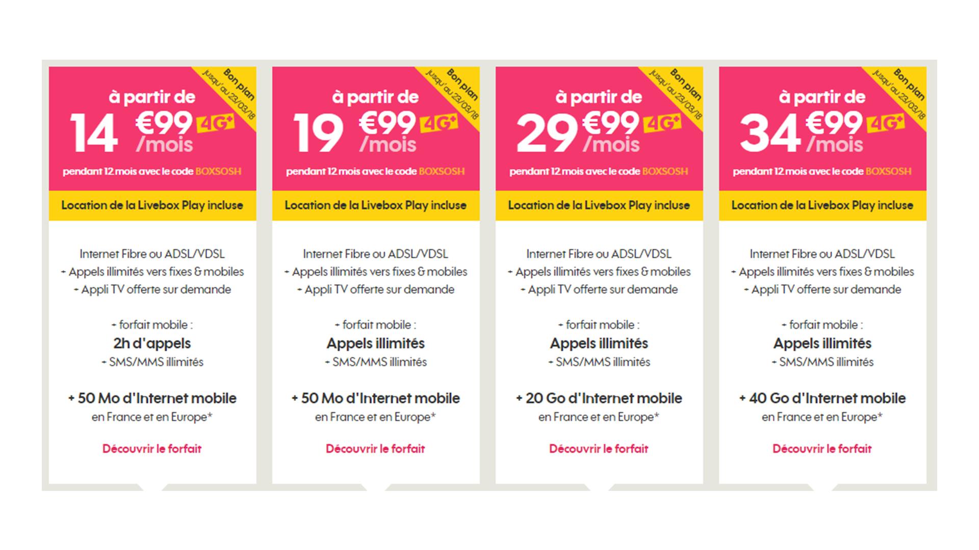 Le Bon Plan Du Jour : Sosh propose 15 euros de réduction par mois pendant un an sur ses formules Livebox + mobile