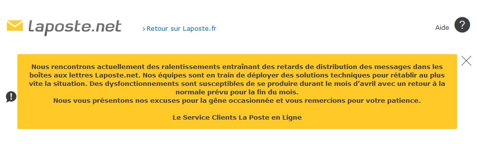 Des Soucis Avec Les Mails Sur Laposte Net C Est A Cause De La Mise