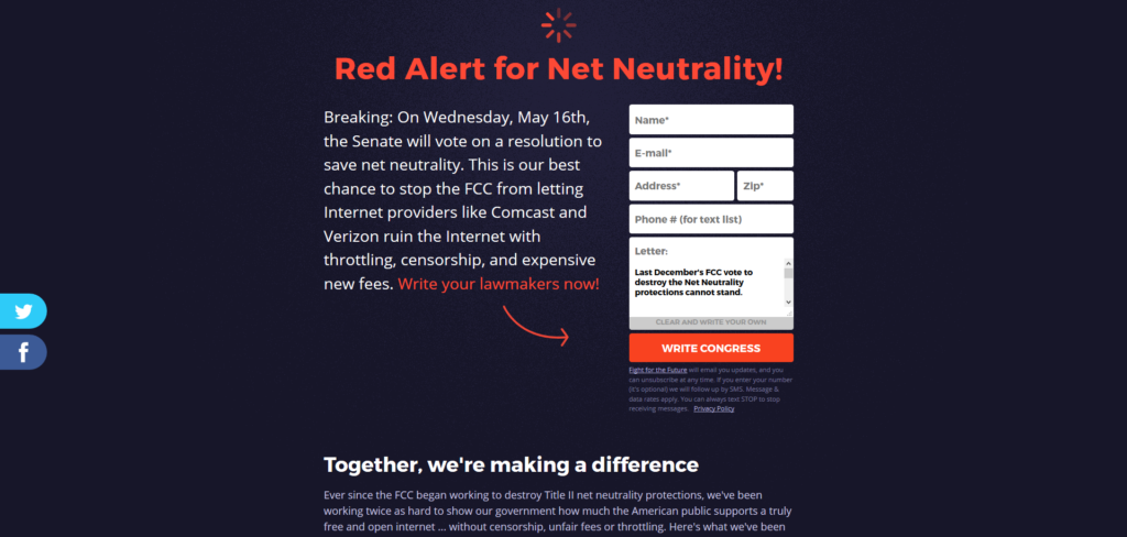 Net Neutrality Congress FCC
