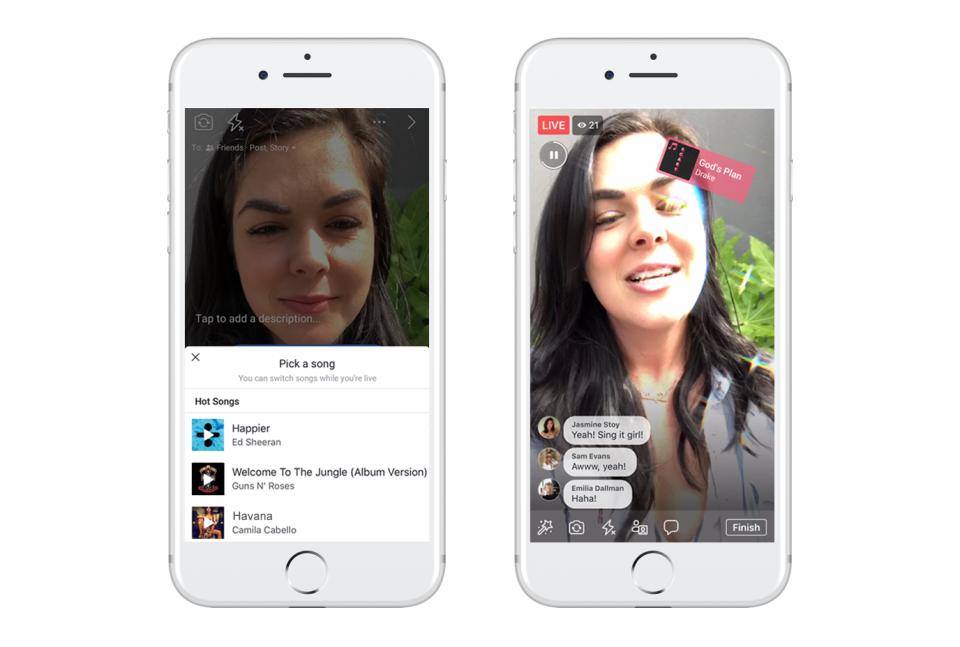Facebook présente une nouvelle option pour chanter en play-back