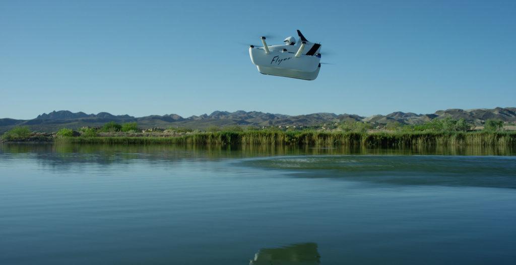 Flyer : après les taxis volants, voici la « voiture volante récréative » dans News flyer-eau-1024x527