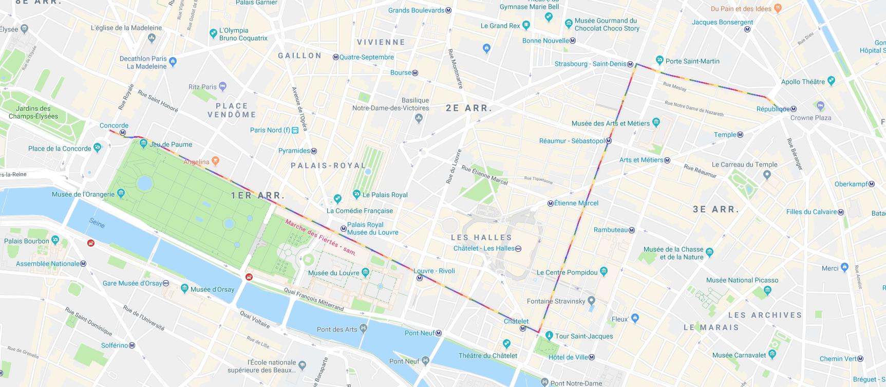 Google Maps affiche le parcours de la Marche des fiertés à ...