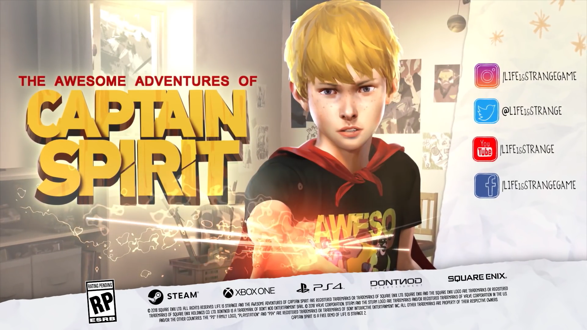 Square Enix annonce Captain Spirit un spin off de Life is Strange
