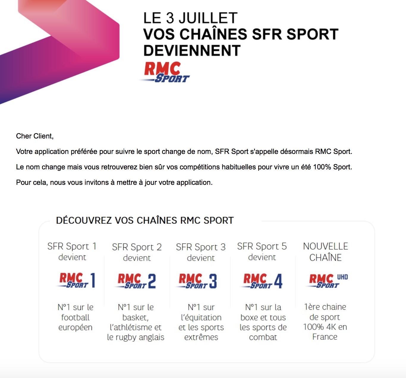 Sfr Sport Devient Rmc Sport Ce Qui Change Vraiment Pour Les Abonnes