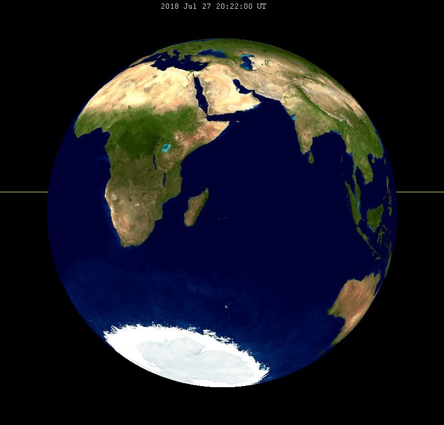 Au maximum de l'éclipse voici ce que nous verrions depuis la Lune. Wikimedia  CC  SockPuppetForTomruen