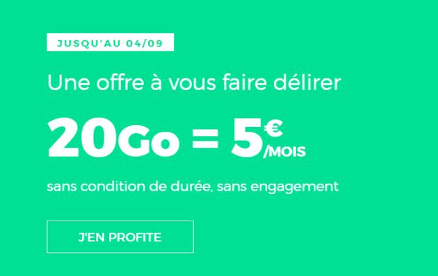 B&You s'aligne sur Sosh et SFR RED : 20 Go pour 4,99 €/mois