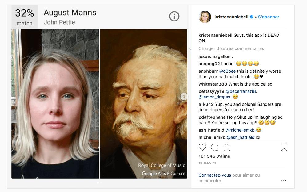 À quelle oeuvre d'art ressemblez-vous — Google Art Selfie