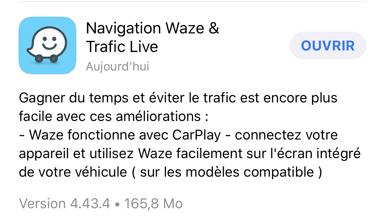 avec waze et maps google arrive en force sur apple carplay tech numerama. Black Bedroom Furniture Sets. Home Design Ideas