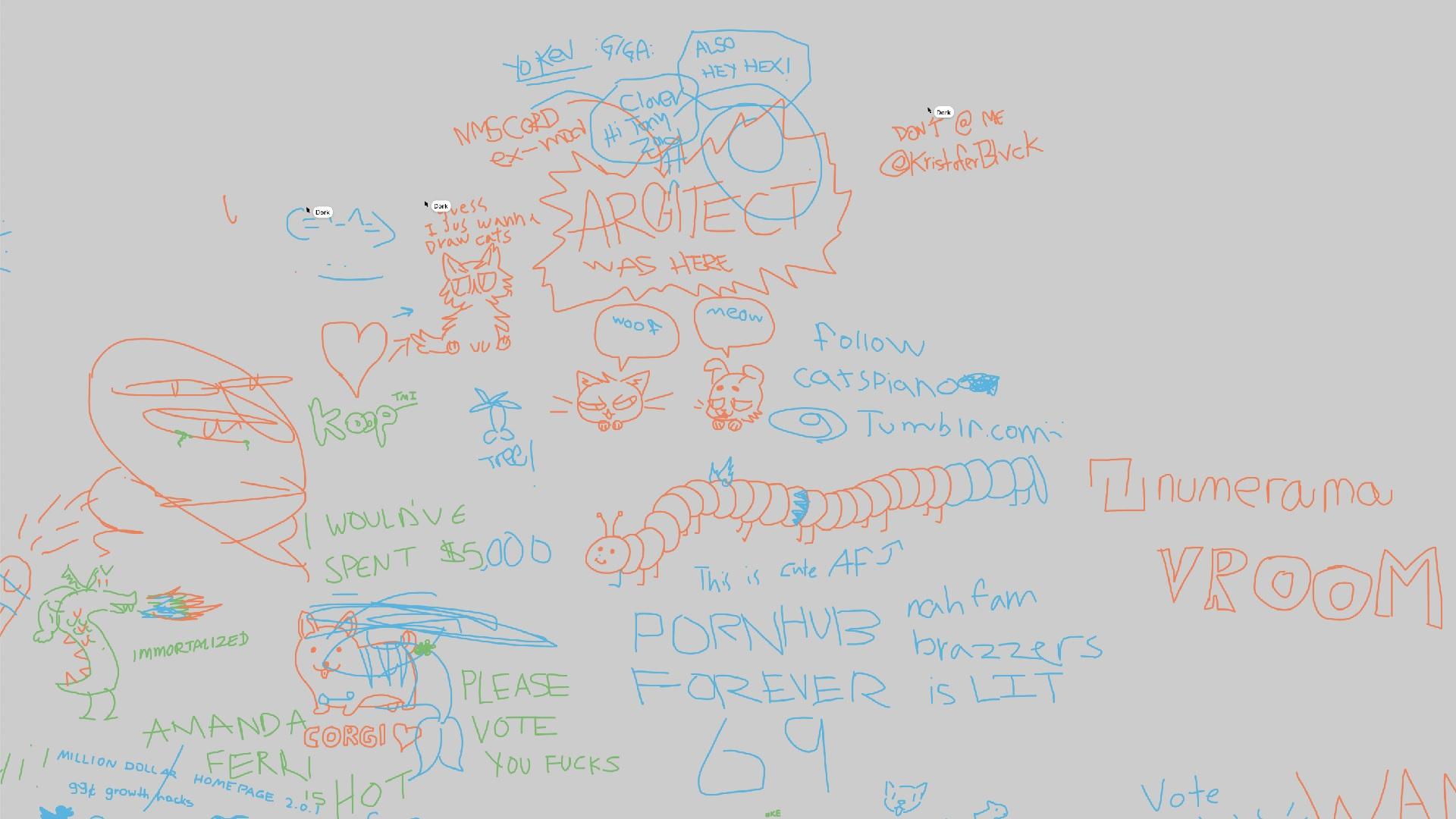 pour perdre votre temps aujourd u0026 39 hui   u00e7a se passe sur cette fresque collaborative un peu moche