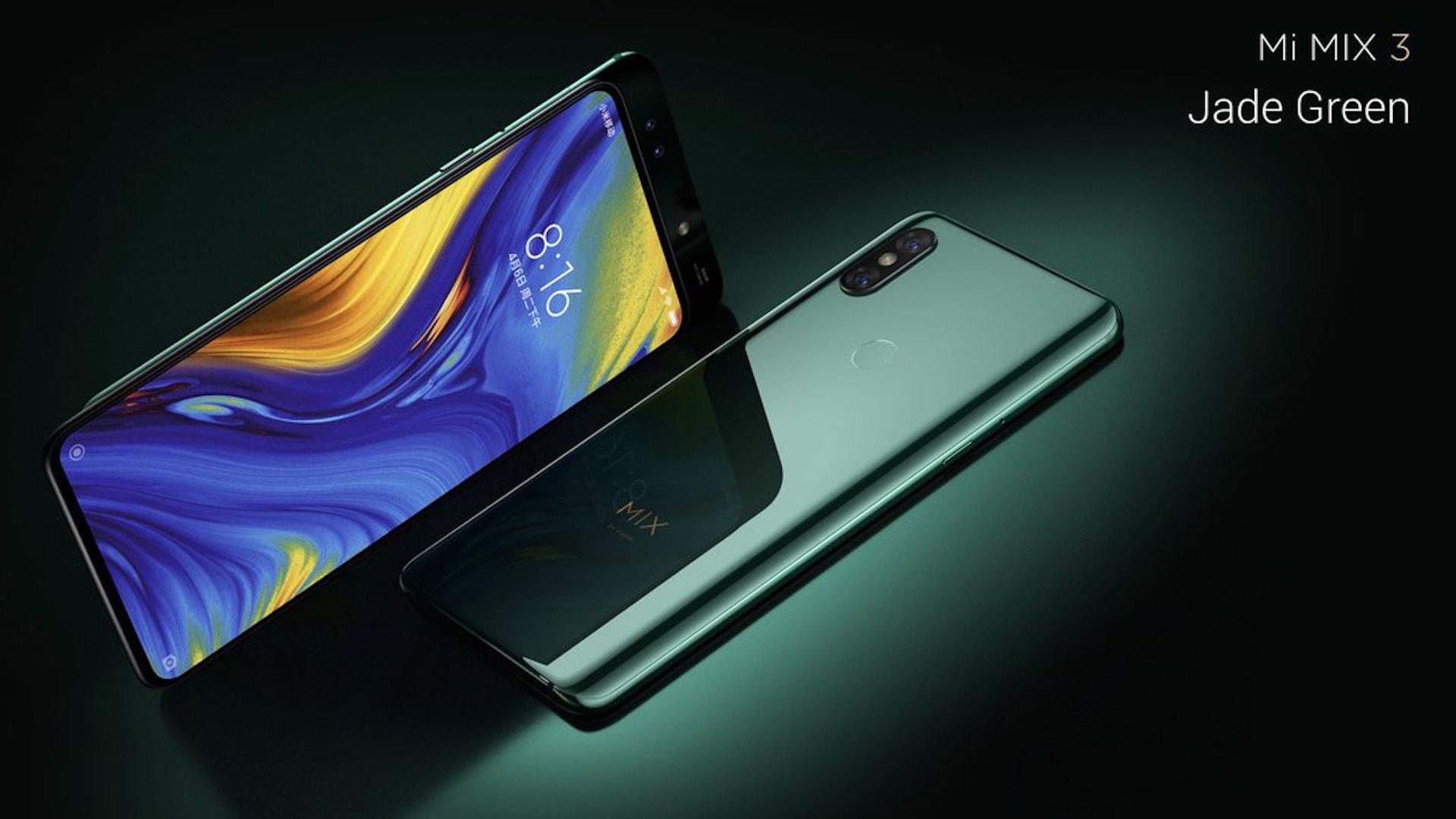 Xiaomi Presente Son Mi Mix 3 Smartphone Sans Encoche