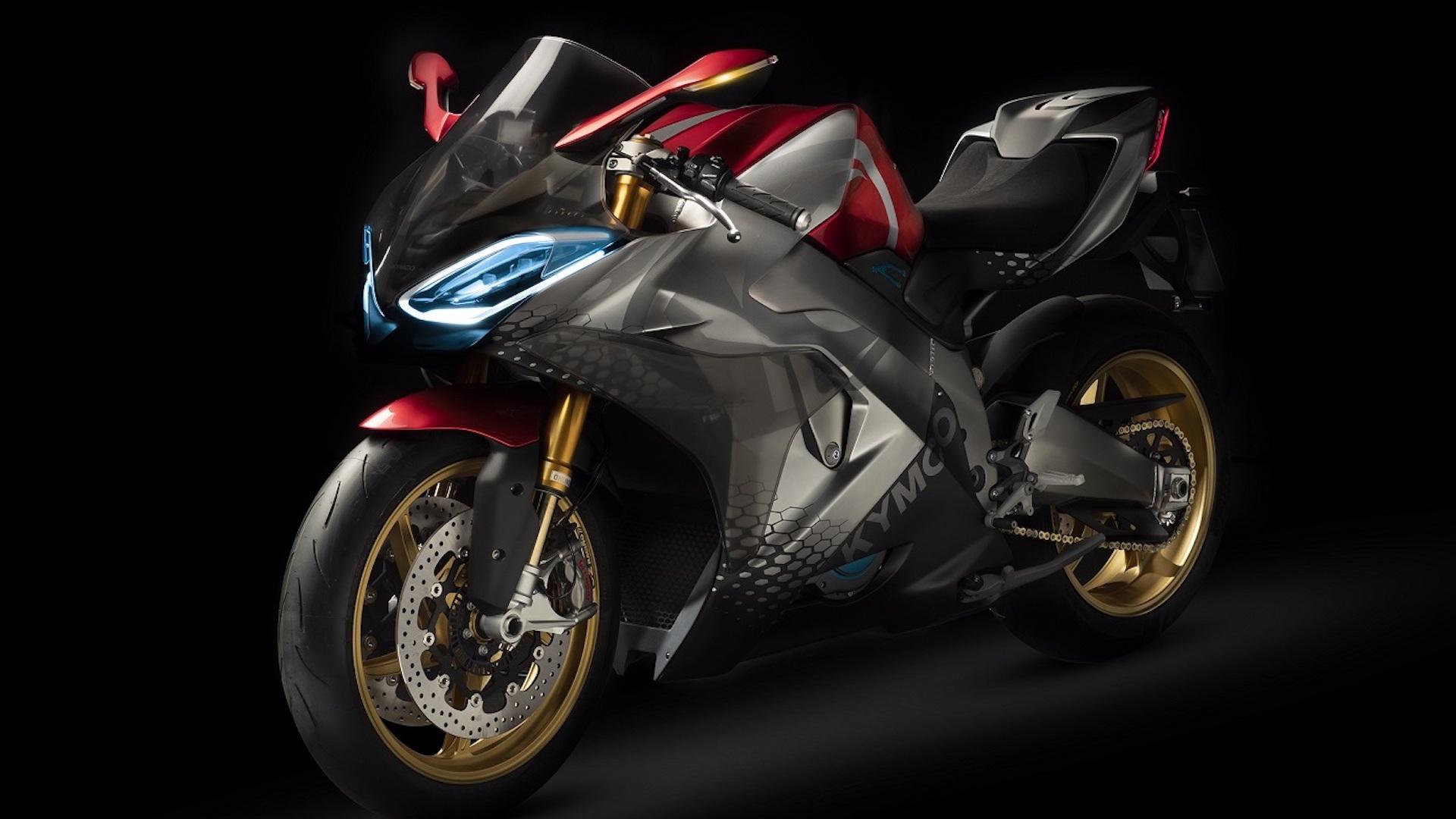 kymco d voile sa moto sportive lectrique 0 100 km h en 2 9 secondes 250 km h max vroom. Black Bedroom Furniture Sets. Home Design Ideas