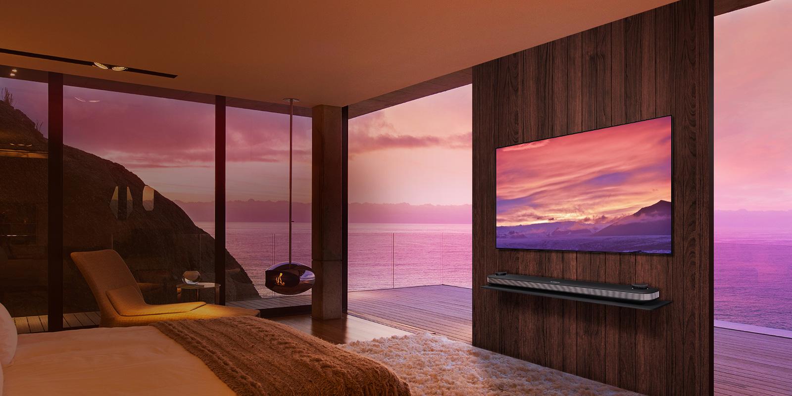 test du t l viseur lg oled w8 signature le design au prix fort tech numerama. Black Bedroom Furniture Sets. Home Design Ideas