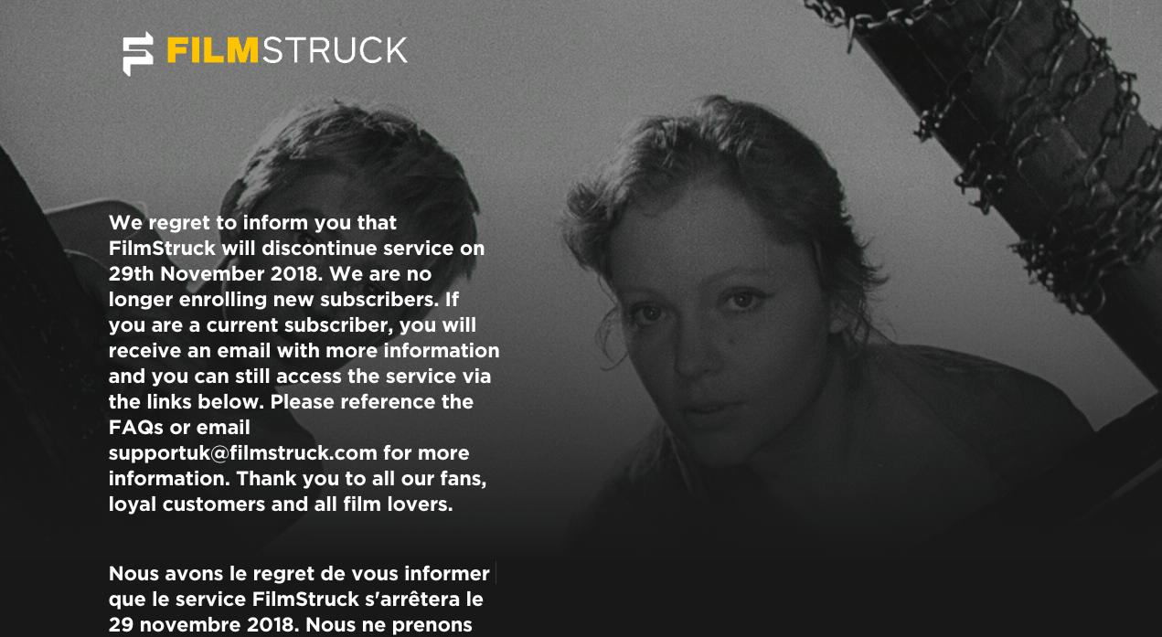 R I P Filmstruck Le Netflix Des Cinephiles A Definitivement