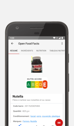 openfoodfacts app
