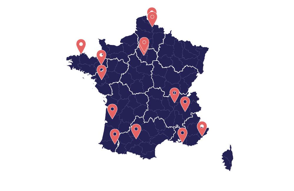 Tableau de bord des expérimentations 5G en France