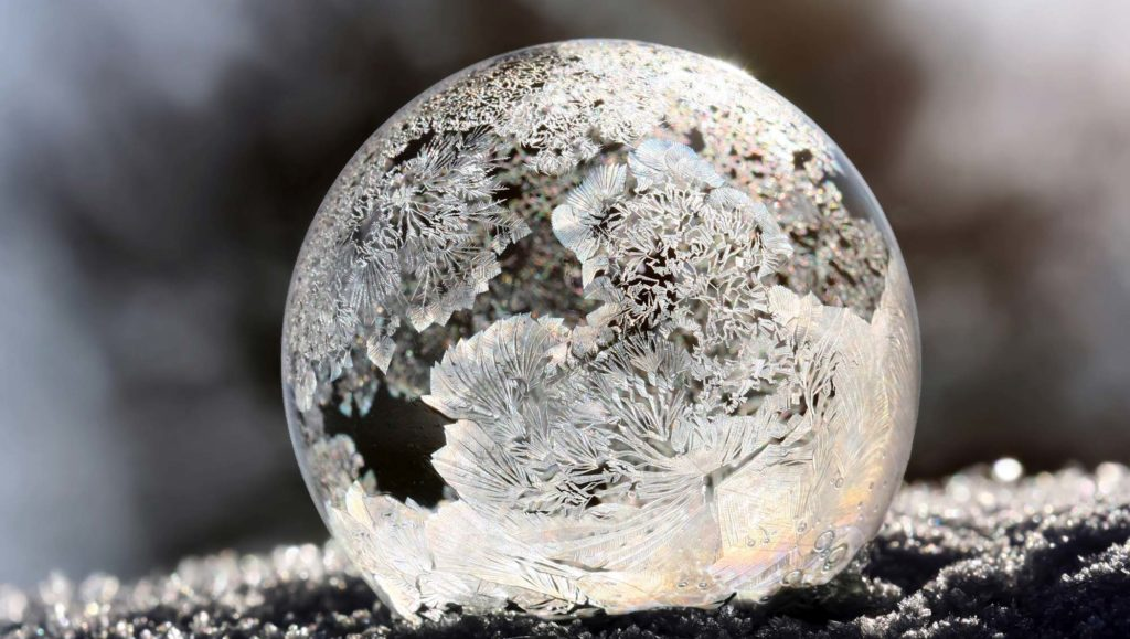 bulle savon glace gel