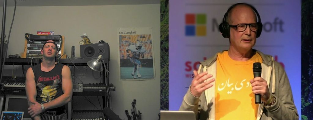 Grandmaster Ratte' à gauche en 2002, Oxblood Ruffin à droite en 2014