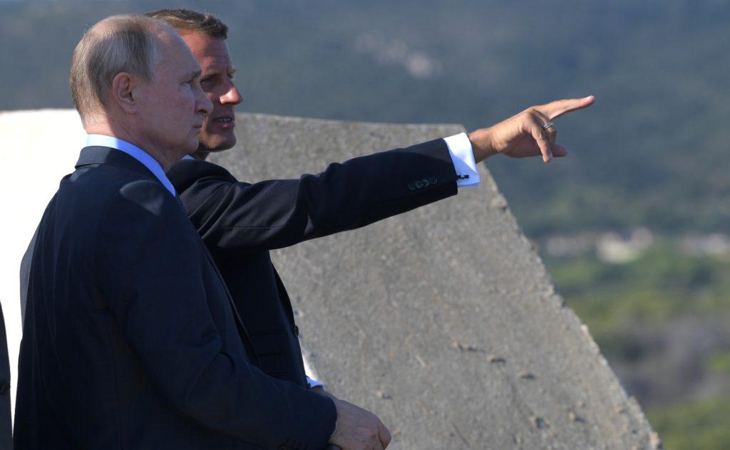 Macron et Poutine au fort de Brégançon, en 2019