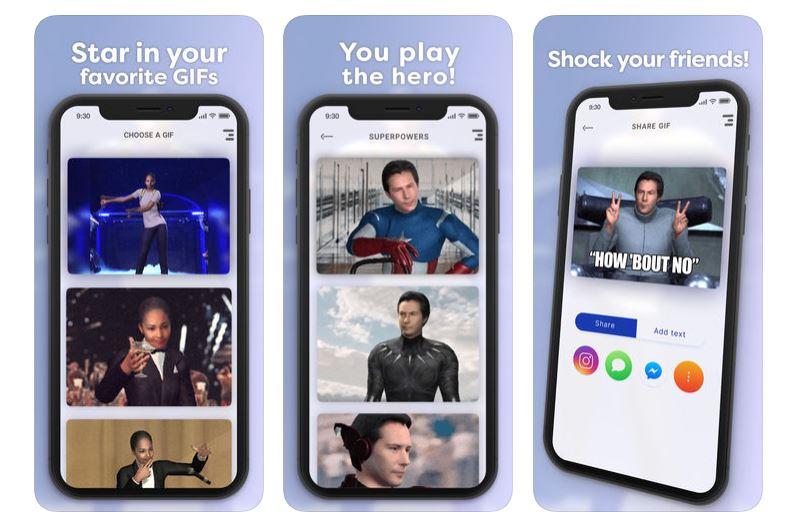 Cette application permet de coller votre visage sur un gif célèbre (et c'est fabuleux)