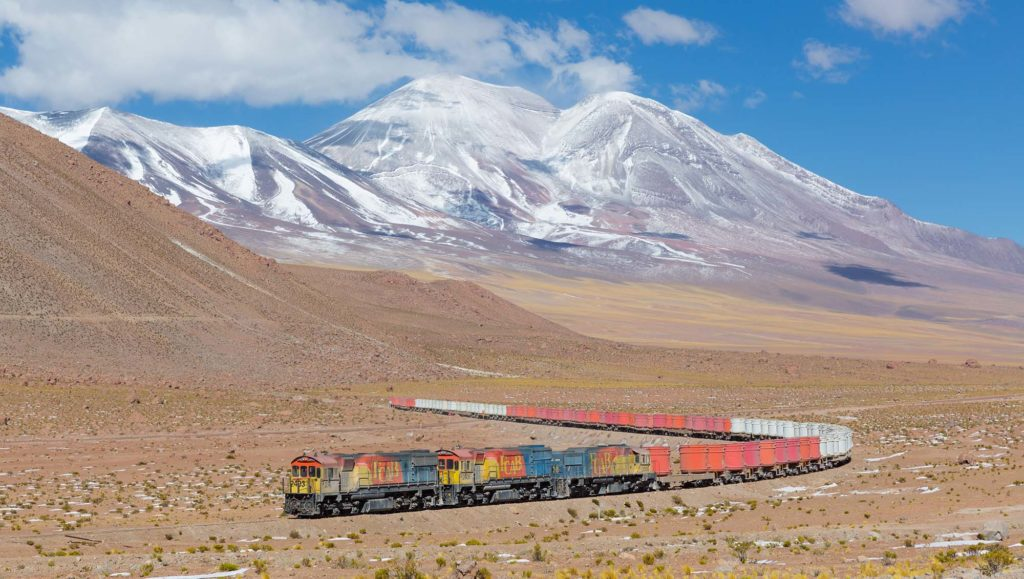 Train Andes transport