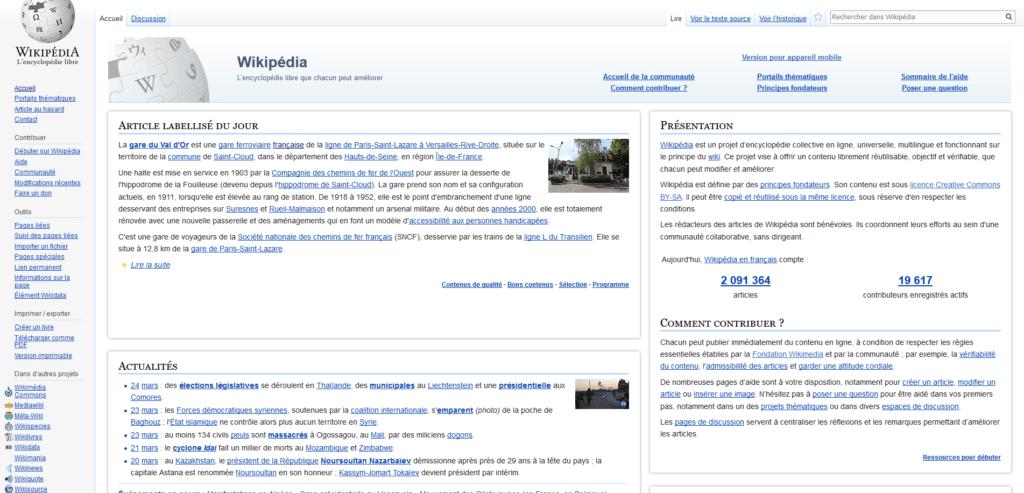 Wikipédia français