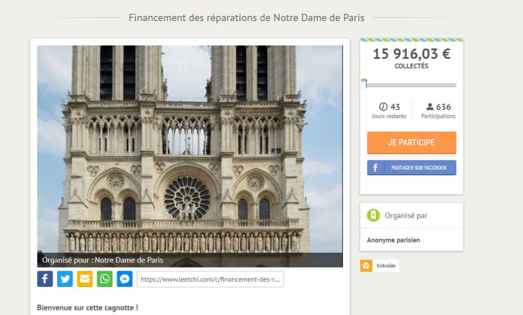 authentic wide range watch Incendie de Notre-Dame de Paris : à quelle cagnotte se fier ?