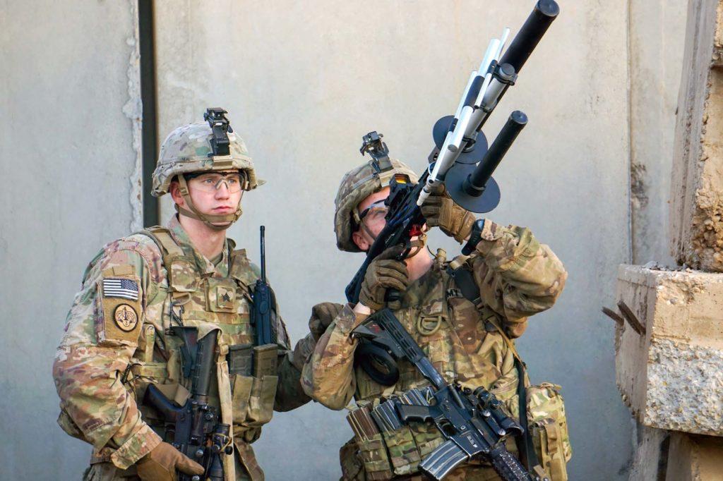 anti drone armée militaire soldat