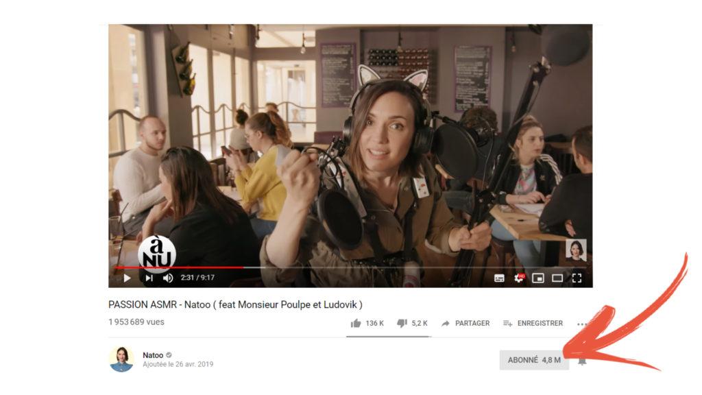 YouTube modifie l'affichage du nombre d'abonnés Compteur-1-1024x576