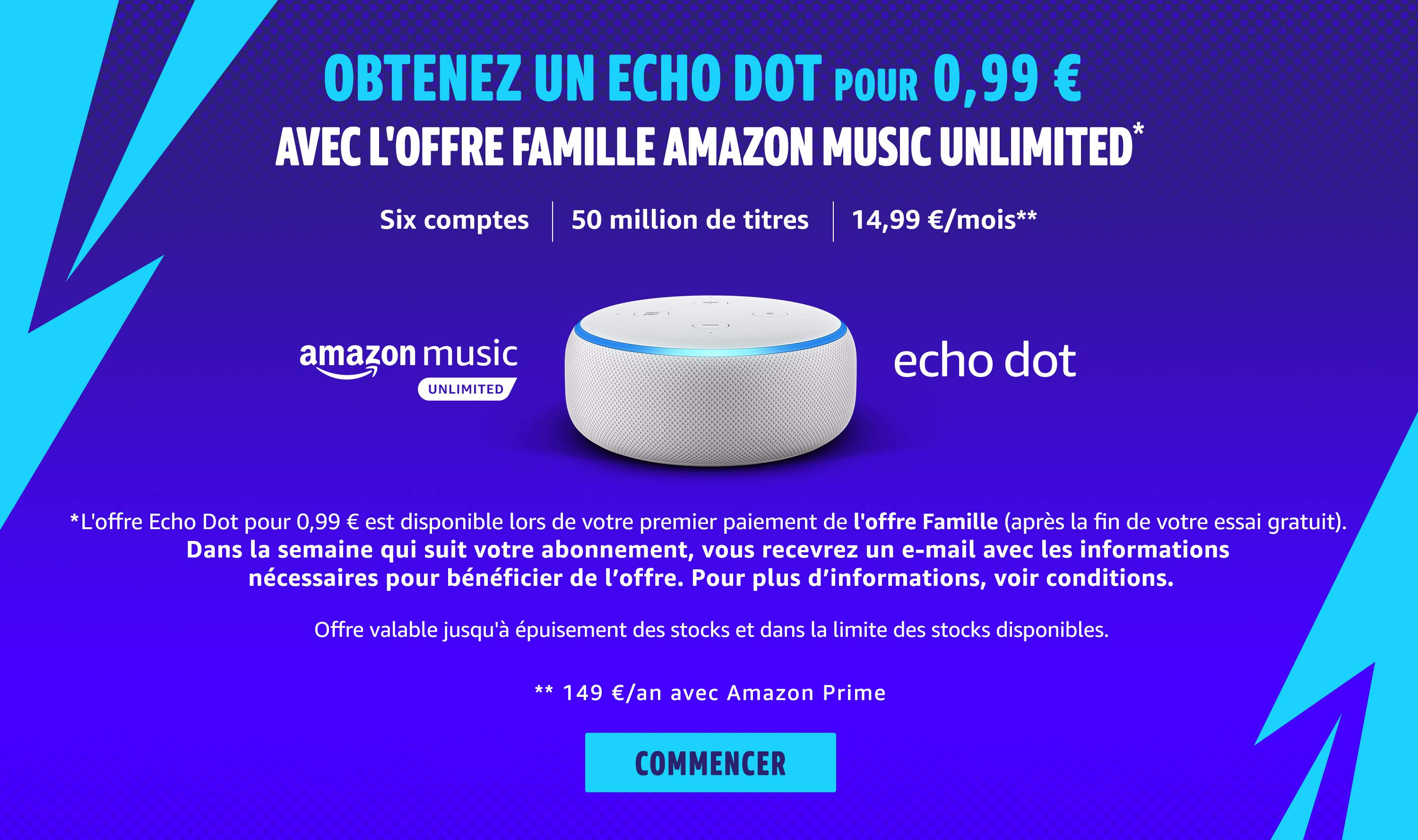 Le Deal du Jour : avec un abo famille Amazon Music Unlimited, l'Echo