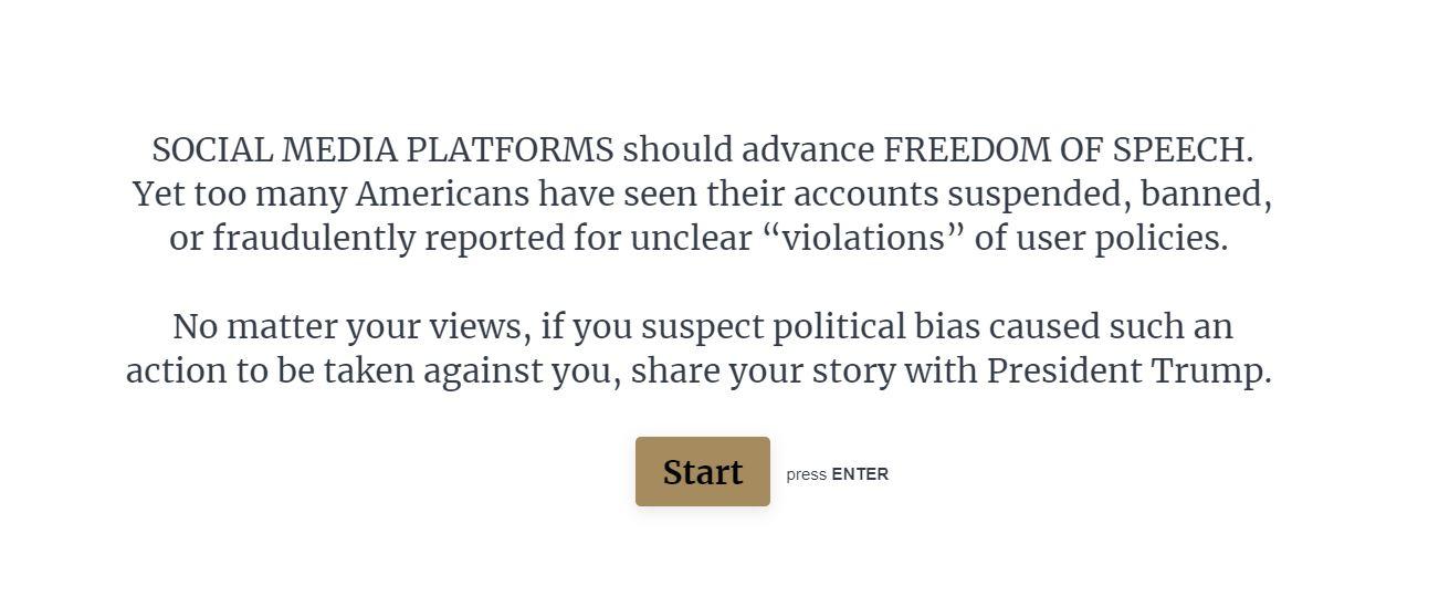 Alors que les réseaux sociaux luttent contre l'extrémisme, la Maison-Blanche lance un outil pour dénoncer la « censure »