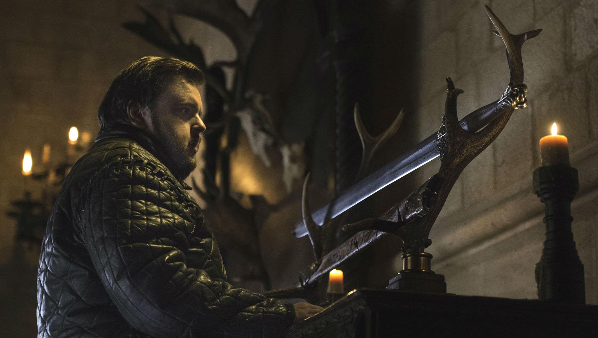 Samwell Tarly et l'épée en acier valyrien de sa famille