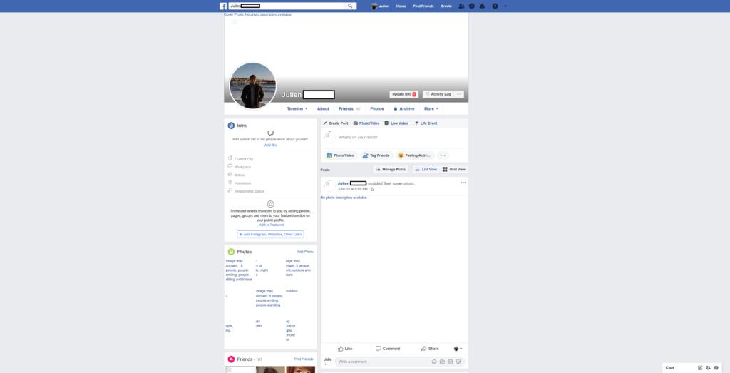 Facebook Julien
