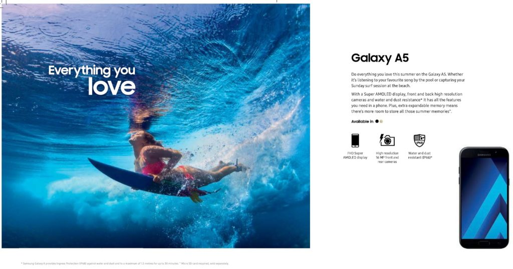 pub australie samsung surf Galaxy A5