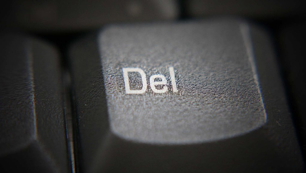 delete suppression effacement touche clavier